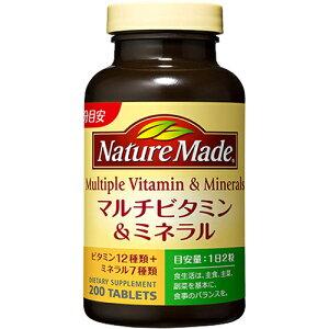 ネイチャーメイド マルチビタミン&ミネラル ファミリーサイズ 200粒/ネイチャーメイド/マルチビ...