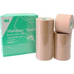 3M マルチポア スポーツ 粘着性綿布伸縮包帯 50mm×5m 6ロール/3M マルチポア/テーピングテープ...