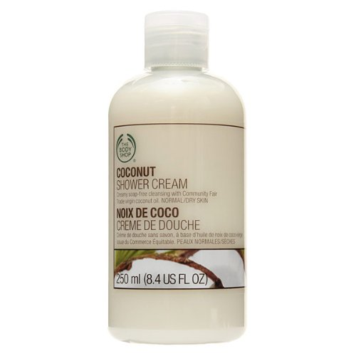 THE BODY SHOP coconut shower cream 250mlfs3gm