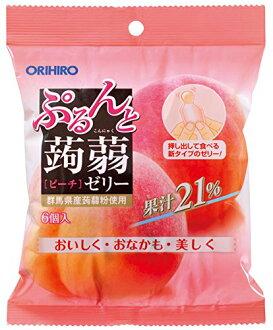 Orihiro 璞和魔芋軟腐病果凍袋新桃 20 gx 六 orihiro 蒟果凍魔芋軟腐病果凍