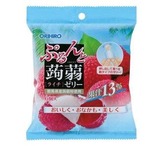 Orihiro 璞和魔芋軟腐病果凍新袋荔枝 20 gx 六 orihiro 蒟果凍魔芋軟腐病果凍