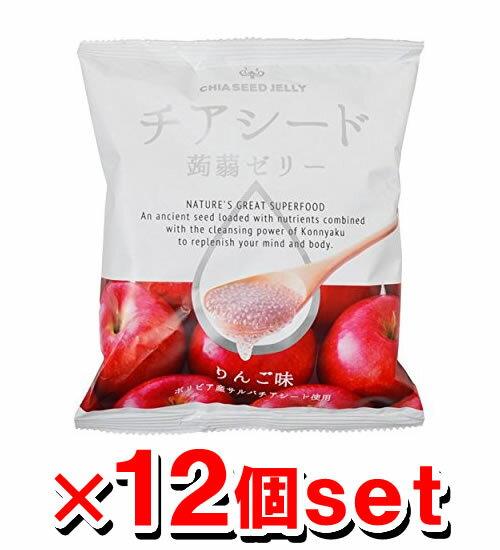 チアシード 蒟蒻ゼリー りんご味 10個入x12袋 (こんにゃくゼリー)