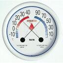 [タニタ]温度計 食中毒注意ゾーン付温湿度計 5488 Nホワイト