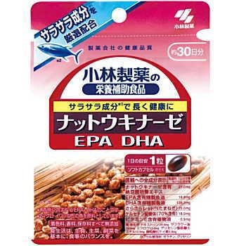 Kobayashi pharmaceutical nutritional supplement (supplements) nattokinase DHA EPA 30 grain soft capsule and Kobayashi pharmaceutical / EI fs3gm
