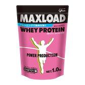 グリコ パワープロダクション MAXLOAD ホエイプロテイン 1kg ストロベリー味 (ホエイ プロテイン マックスロード)