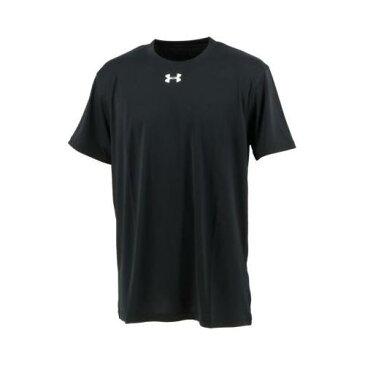 UNDER ARMOUR アンダーアーマー TS ショートスリーブ Tシャツ ブラック×ホワイト(001) [1310139] (ルーズ ゆったりサイズ 半袖 丸首 スポーツ エクササイズ トレーニング)