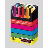 yuniposuka[PC-5M15C]1套安排墨水色:黑,紅,藍,綠,黄綠色,紫色,淡酸橙,棣棠,黄色,橙,桃子,淡藍色,茶,灰,白(三菱鉛筆UNI POSCA水性細線萬能筆水性萬能筆)