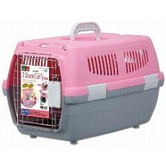 【セール】【期間特価】マルカン2ドアキャリー小型犬・猫用ピンク[DP-173]