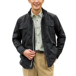 送料無料「7ポケット仕様軽量はっ水トラベルジャケット(全2色) アウター 撥水ジャケット メンズ 紳士服 シニア 男性 カジュアルジャケット 黒 ブラック ベージュ ナイロンジャケット シニアファッション 50代 60代 70代 80代 ギフト プレゼント」 fri p19292