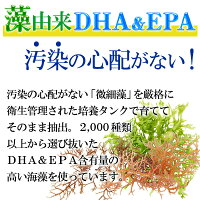 藻由来DHA&EPAで汚染の心配がない!