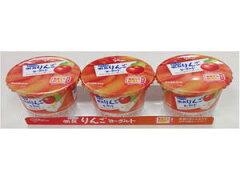 【ヨーグルト】グリコ 朝食やわらかりんごヨーグルト 3連 6パック