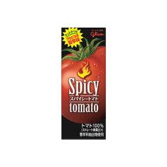 【トマトジュース】【6月23日発売】グリコ スパイシートマト200ml 24本 【トマトジュース】