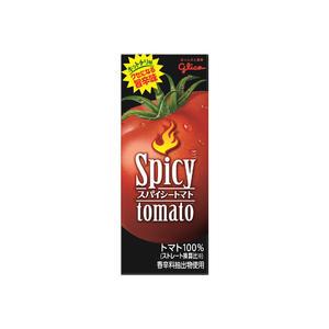 【トマトジュース】グリコ スパイシートマト200ml 24本 【トマトジュース】