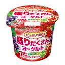 【10%OFF】メグミルク 盛りだくさんヨーグルト 7種の赤いフルーツミックス 180g 12個入