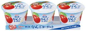 【10%OFF】グリコ 朝食りんごヨーグルト 3連 1個