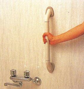 お風呂やトイレのすべり易い場所での動作補助スクリュープラグでしっかり取り付け浴槽手すり バ...