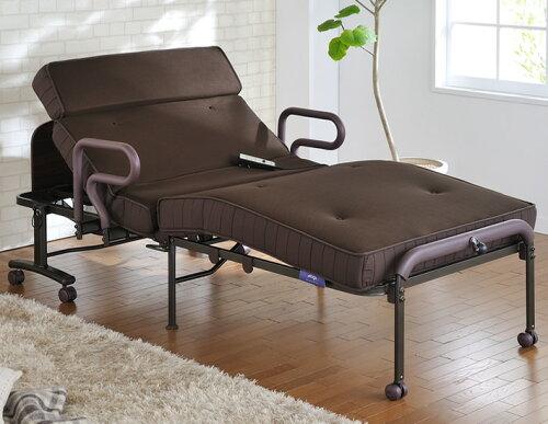 電動リクライニングベッド 折りたたみベッド 収納式 Wファンクションリクライニング アテックス ...