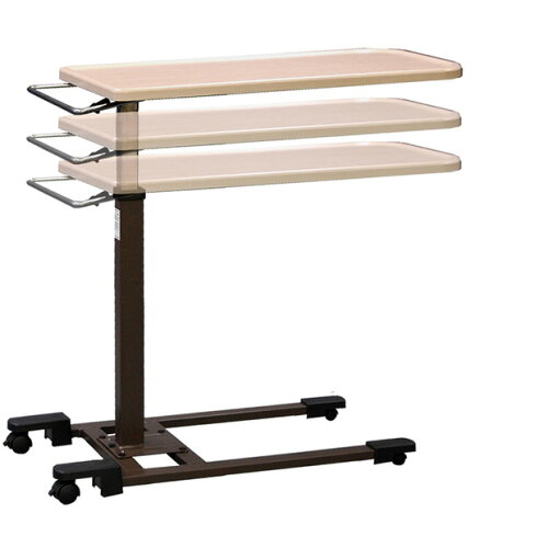 介護ベッドにも使える ベッドテーブル バネ式昇降ベッドサイドテーブル ヤマトヒュー...