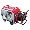 【スーパー工業】 エンジン式高圧洗浄機 防音型 ホースリール付 [SE...