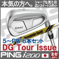 【ピン公認フィッター対応ポイント10倍】ピンゴルフi200アイアン5I~PW(6本セット)ダイナミックゴールドツアーイシューDGISSUE【日本仕様】(左用・レフト・レフティーあり)pingI200