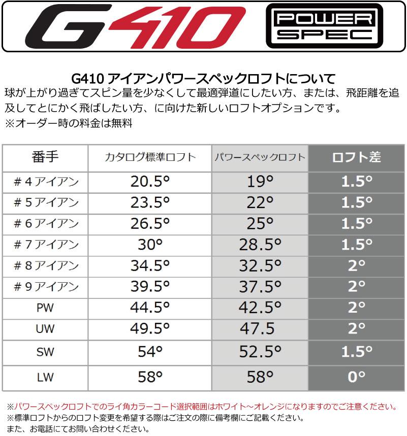 ポイント10倍 PING 販売実績NO.1 PING GOLF ピン G410 アイアンダイナミックゴールド 105 DG 105 スチール7I~PW(4本セット)(左用・レフト・レフティーあり)ping g410 ironジー410 日本仕様