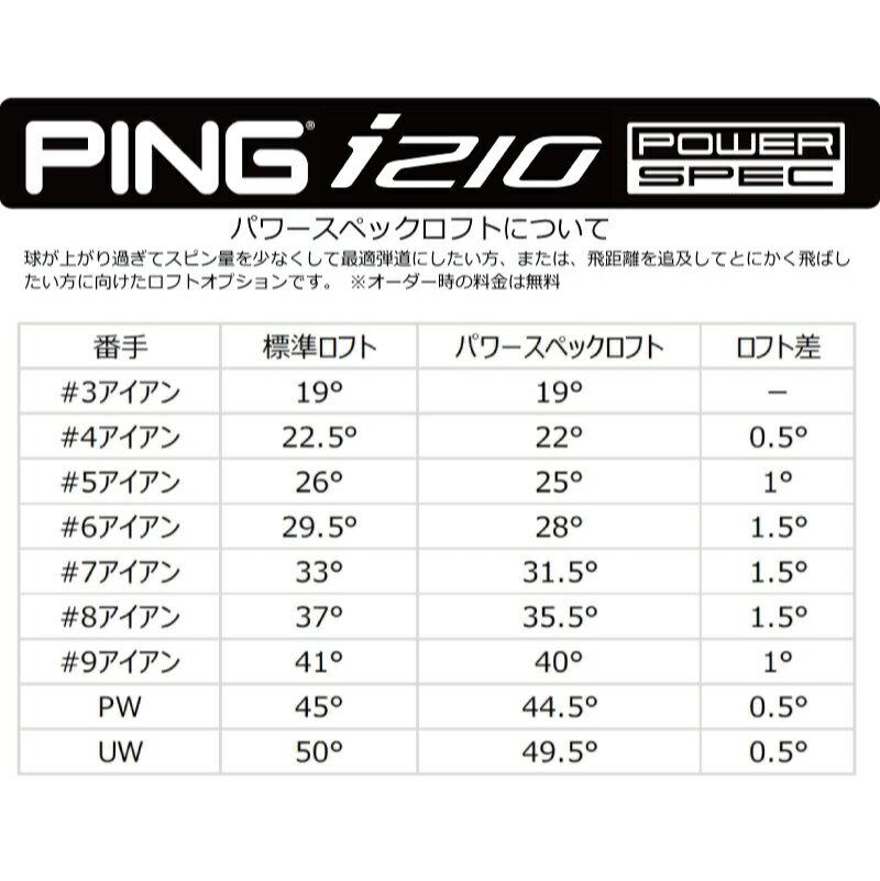 ポイント10倍 PING 販売実績NO.1 ピン i210 アイアンi210 ironi210 アイアン4本セット(7I~PW)NS PRO 950GH NEO ネオ スチール 日本仕様 (左用・レフト・レフティーあり)ping I210 アイ210