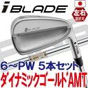 【ピン公認フィッター対応 ポイント10倍】【日本仕様】PING ピン ゴルフI BLADE アイアンダイナミックゴールド AMT 6I〜PW(5本セット)(左用・レフト・レフティーあり)ping ironアイブレード