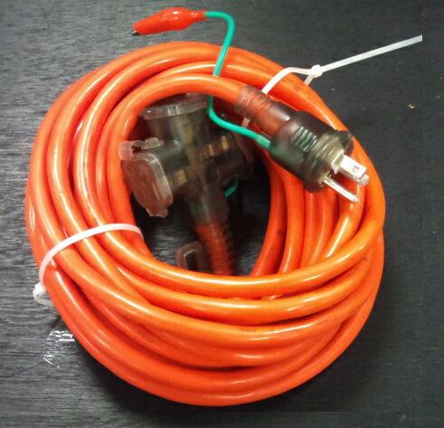 特価品 やわらか延長コード10m 二芯・三芯兼用/三ツ口/ポッキンプラグ/VCT2.0mm2