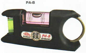 KOD(アカツキ)ポケット水平器プロテクトアーマーブラックPA-B