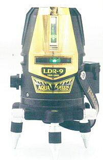 【フルセット&予備電池】山真ヤマシンアクアグリーンレーザー墨出し器GOLD【たち線4本・全周】LDR-9G-3D-W(本体+受光器+三脚+予備電池)