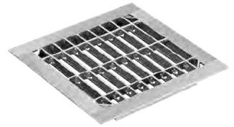 ニムラ鋼板製組溝グレーチングL995mm四面ツバ(一般型)改良桝用桝寸法360mm用SUC419-350L3【※メーカー直送品のため代引不可となります】【※4枚以上で送料無料です】