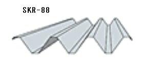*カーポート屋根材88タイプ無塗装厚み0.6mm長さ2000mm折板(セッパン)金属屋根車庫屋根材ルーフデッキ
