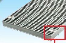 グレーチング一般側溝用ボルト固定細目ノンスリップ本体寸法400×995×38mm形式記号WZS-X(F)40‐538グレーチング