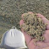 山砂(通し砂・左官砂) 高知産 土嚢袋 18kg セメント用砂・砂場の砂・ガーデニング・畑仕事・植栽・園芸用砂として 送料無料