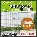 スチールメッシュフェンス(ネットフェンス) プロメッシュ1型(間柱タイプ)中間部品セット08-15用 35MK-B 四国化成