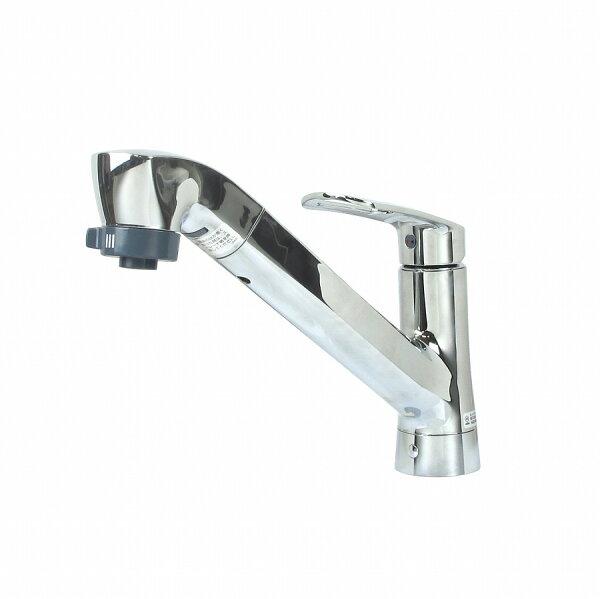 三栄水栓製作所シングルワンホールスプレー混合栓プラスエコシリーズK87120E2TJV|水道蛇口交換キッチン混合水栓混合栓水栓シ
