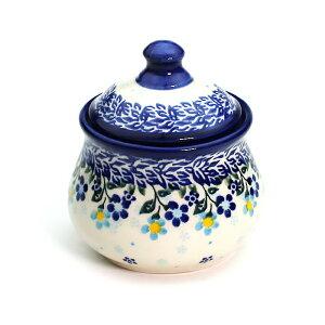 シュガーポット[V014-B253]【ポーリッシュポタリー[ポーランド食器・陶器]】