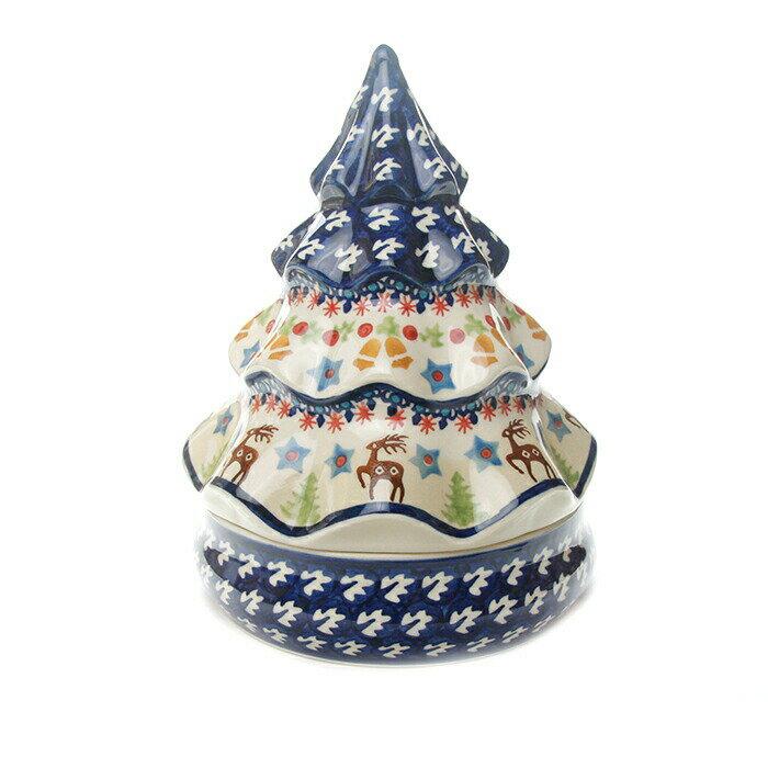 クリスマスキャンディーボックス[W851-A18]【ポーリッシュポタリー[ポーランド食器・陶器]】
