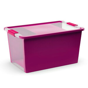BIボックスLサイズカーバー/CURVERBIboxL収納ボックスイタリアフタ付き収納プラスチック軽いスタッキング衣類収R納おもちゃ入れ/RCP
