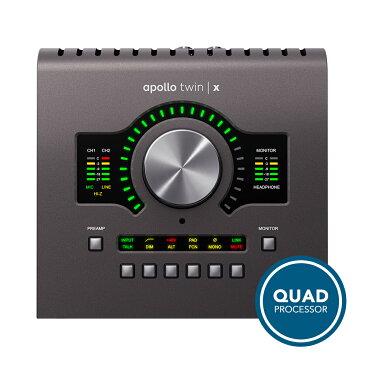 UNIVERSAL AUDIO Apollo Twin X QUAD◆デスクトップ・プラチナ・ボーカル・プロモーション実施中!6/30まで◆