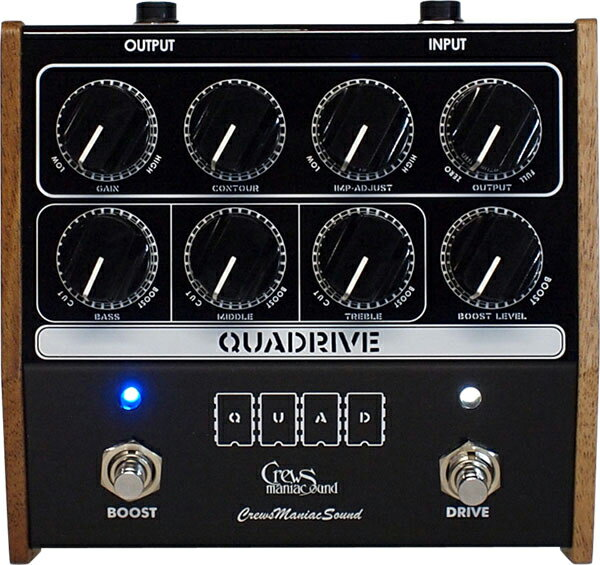 ギター用アクセサリー・パーツ, エフェクター Crews Maniac Sound QUADRIVE Crews PREAMP EFFECT Series