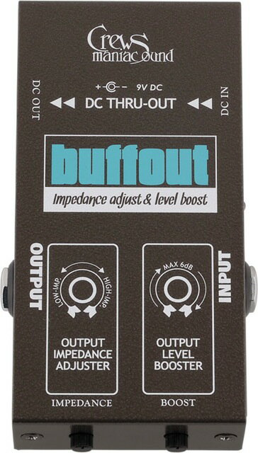 ギター用アクセサリー・パーツ, エフェクター Crews Maniac Sound buffout Crews PREAMP EFFECT Series