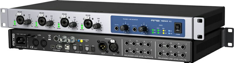 DAW・DTM・レコーダー, オーディオインターフェイス RME Fireface 802