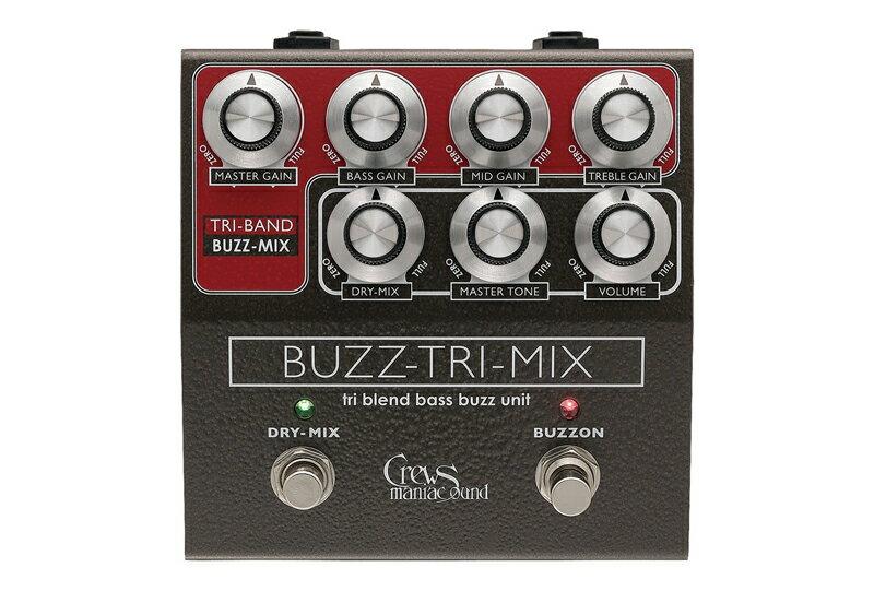 ギター用アクセサリー・パーツ, エフェクター Crews Maniac Sound Buzz-Tri-Mix Crews PREAMP EFFECT Series