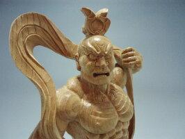 木彫り・・・欅仁王像30cm