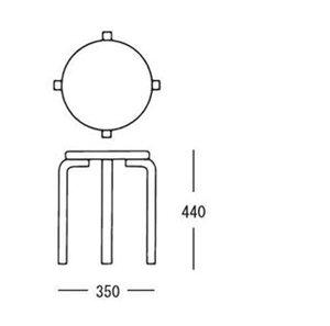 スツール60/artek(アルテック)/パイミオカラー/バーチ/ラッカー仕上げ/組み立て式/スツール/AlvarAalto(アルヴァ・アアルト)