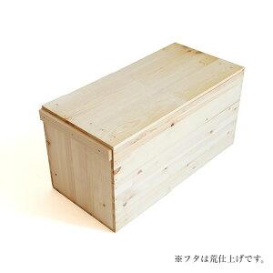 レビューを書いて木工用みつろうクリームプレゼント♪木のはこ屋 りんご箱 B20kg(パイン集成材)...