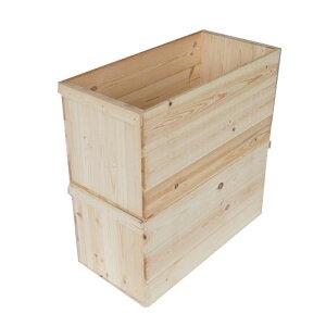 りんご箱 B20K 【取手付】2箱セット(パイン集成材) / 木箱 きばこ kibako リンゴ 林檎 ウッドボックス 店舗什器 ワイン箱 ベジタブルボックス 木の収納ボックス 無塗装 送料無料!/ 木のはこ屋