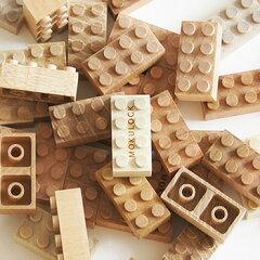 自然の魅力が詰まった木のブロック・モクロック【レビューを書いて送料無料】モクロック 50ピ...