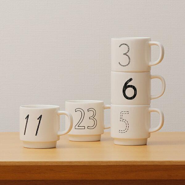 KEYUCA ケユカ Date Mug デザインマグカップ No.16〜No.31[マグカップ スタッキングマグ コップ ギフト プレゼント 誕生日 記念日 スタッキング おしゃれ オシャレ かわいい 磁器 陶器 日本製 美濃 数字 ナンバー 通販 楽天]